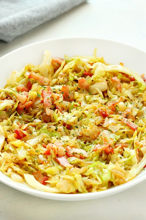 fried cabbage A Fried Cabbage