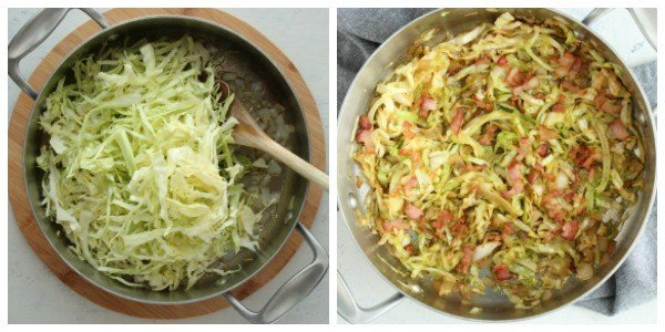 fried cabbage step 3 and 4 Fried Cabbage
