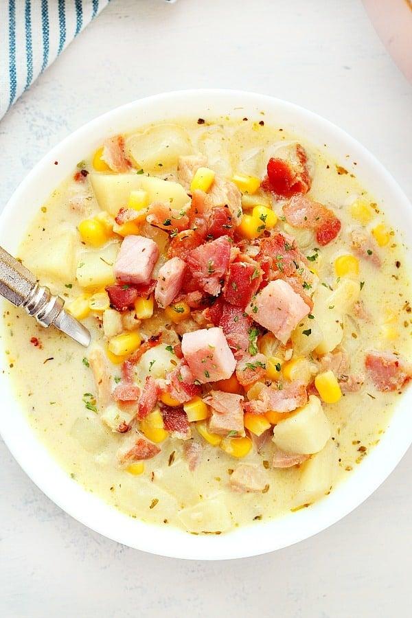 potato ham chowder B Potato Ham Chowder