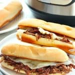 French Dip sandwich on a plate.