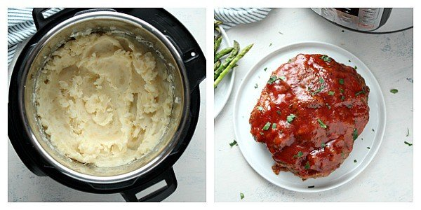 IP meatloaf collage step 3 Instant Pot Meatloaf