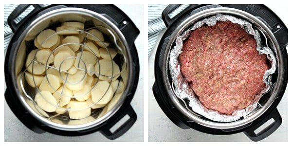 IP meatloaf collage steps 1 Instant Pot Meatloaf