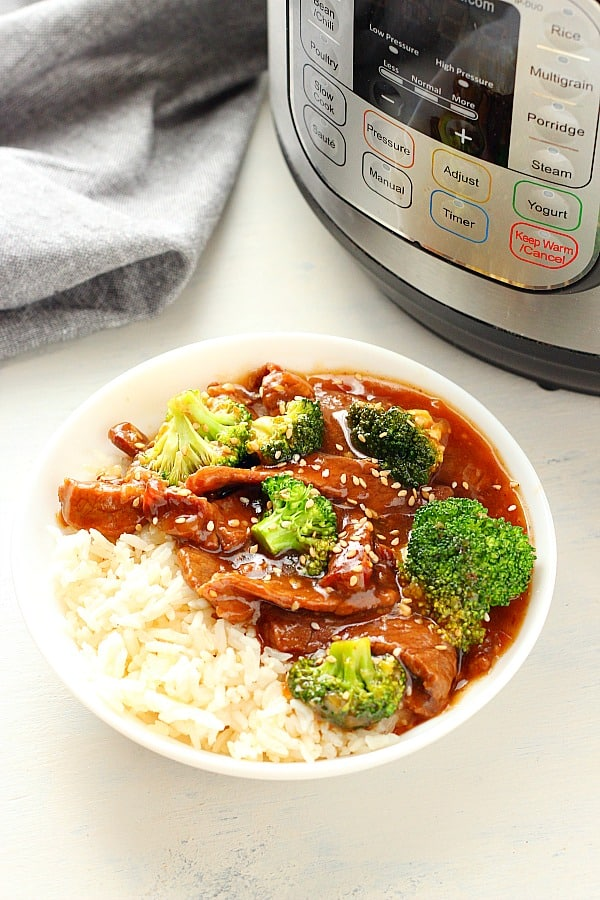 Instant Pot beef and broccoli C Instant Pot Beef and Broccoli