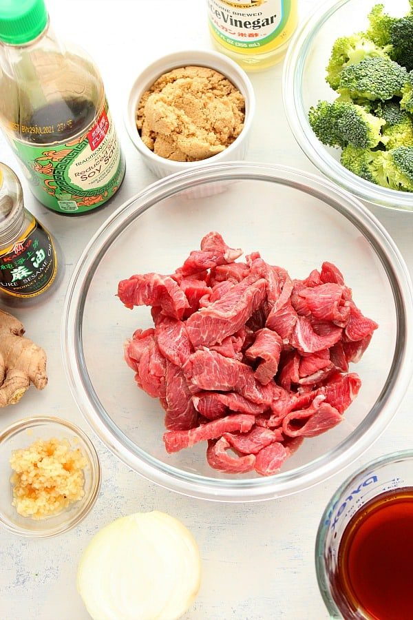 Instant Pot beef and broccoli ingredients Instant Pot Beef and Broccoli