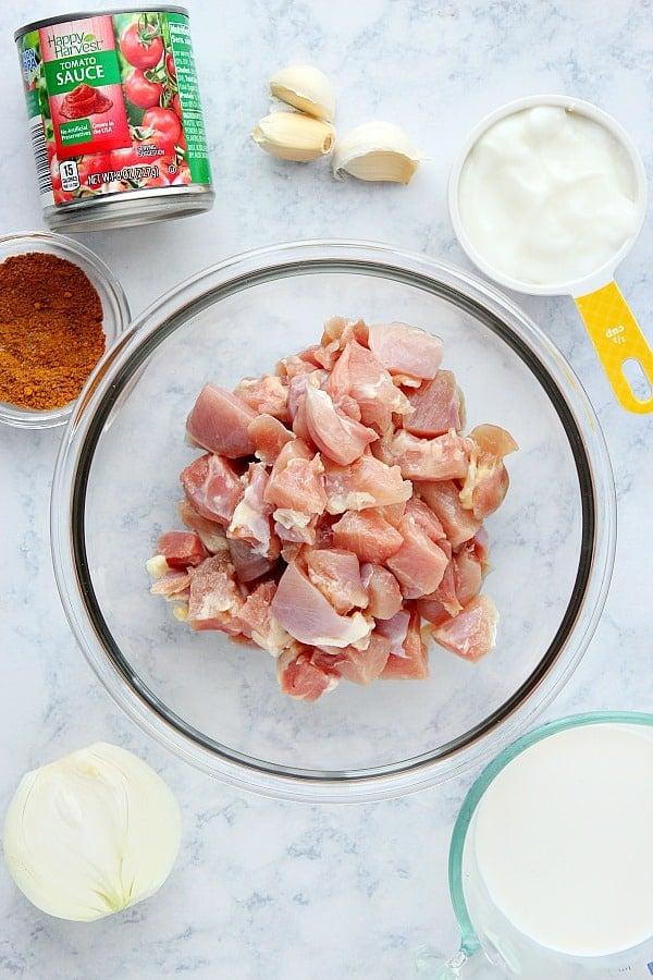 butter chicken ingredients Easy Butter Chicken