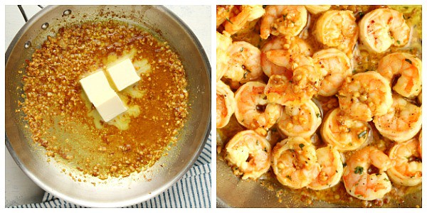 garlic butter shrimp step 3 and 4 Garlic Butter Shrimp