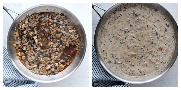step 3 the sauce Tater Tot Casserole