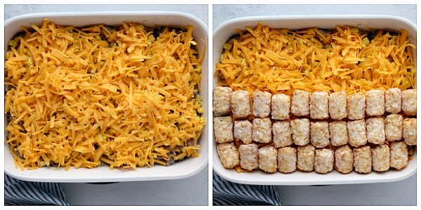 step 5 cheese and tots Tater Tot Casserole