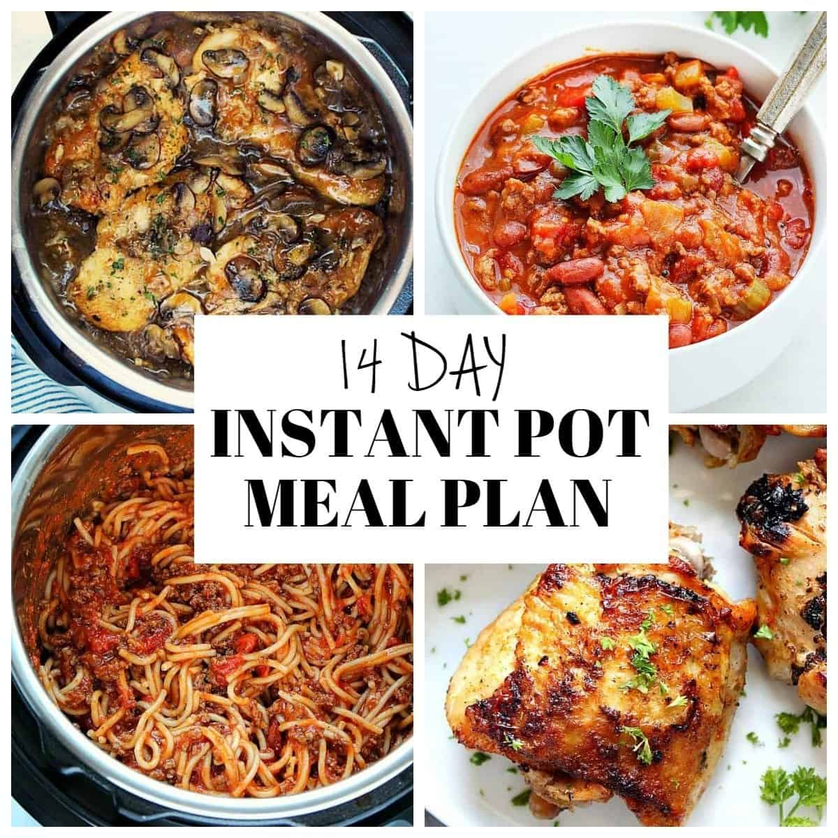 14 day Instant Pot meal plan 1 14 Day Instant Pot Meal Plan