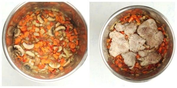 IP cacciatore step 2 Collage Instant Pot Chicken Cacciatore