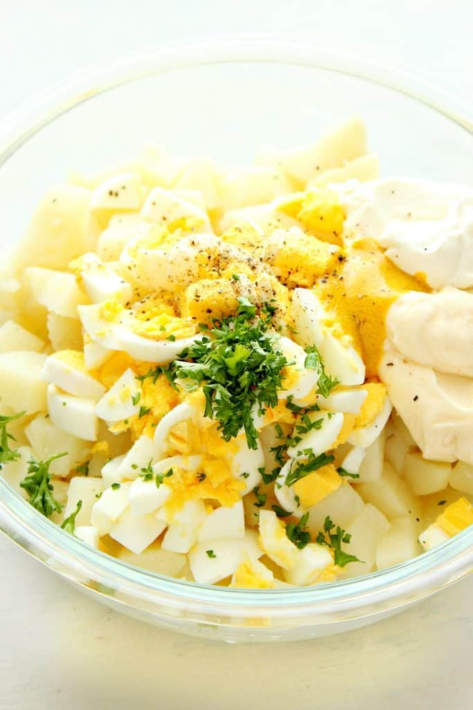 Instant Pot Potato Salad ingredients 683x1024 Instant Pot Potato Salad