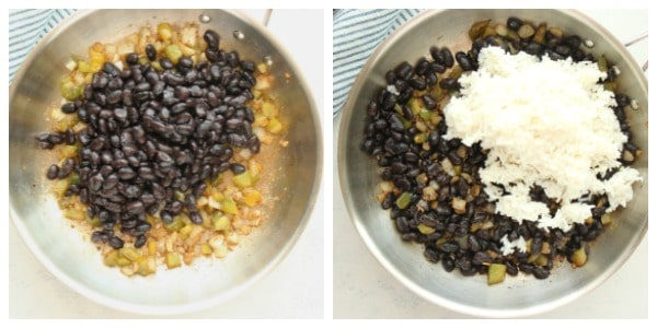 black beans and rice step 2 Collage Black Beans and Rice