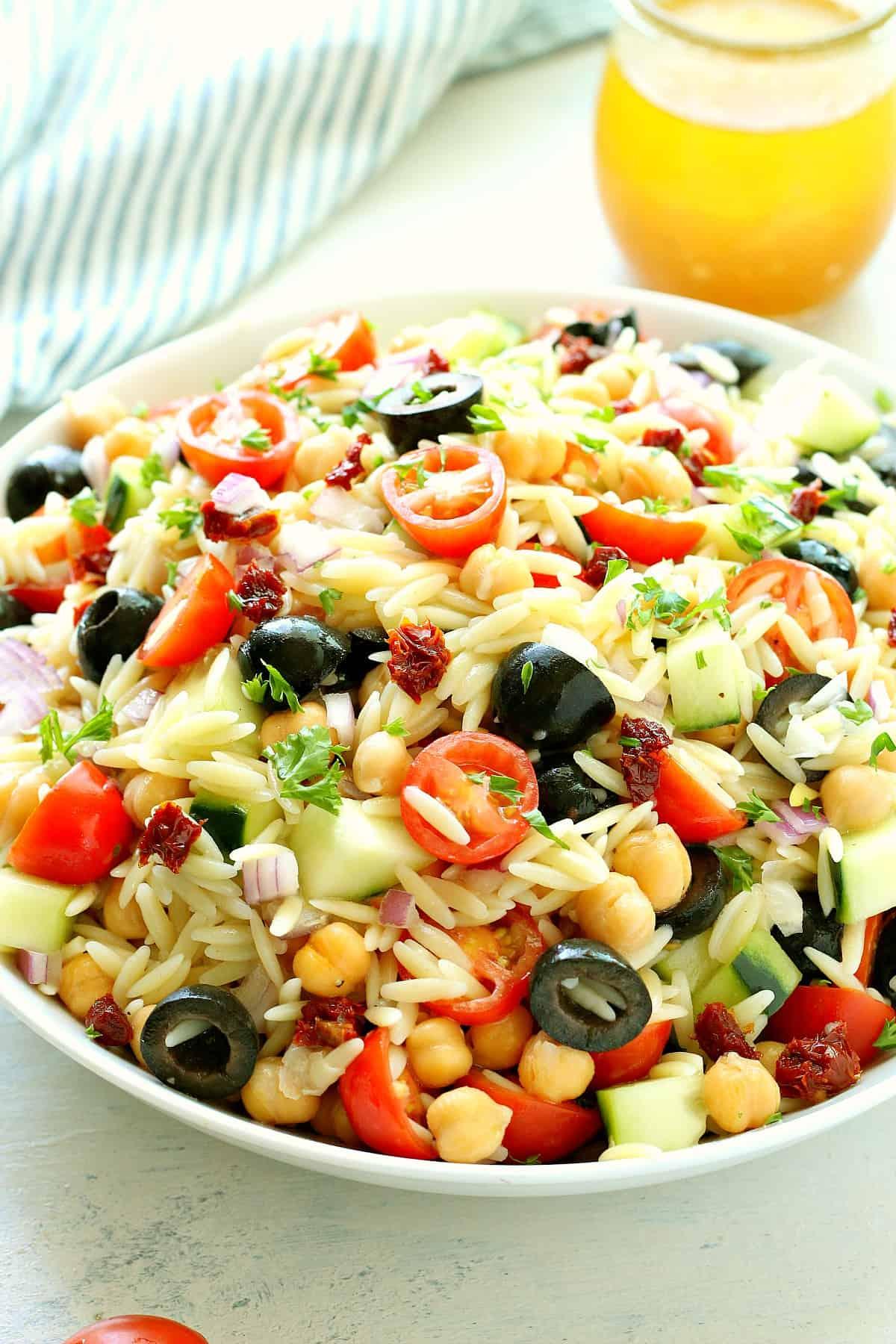 orzo pasta salad C Orzo Pasta Salad