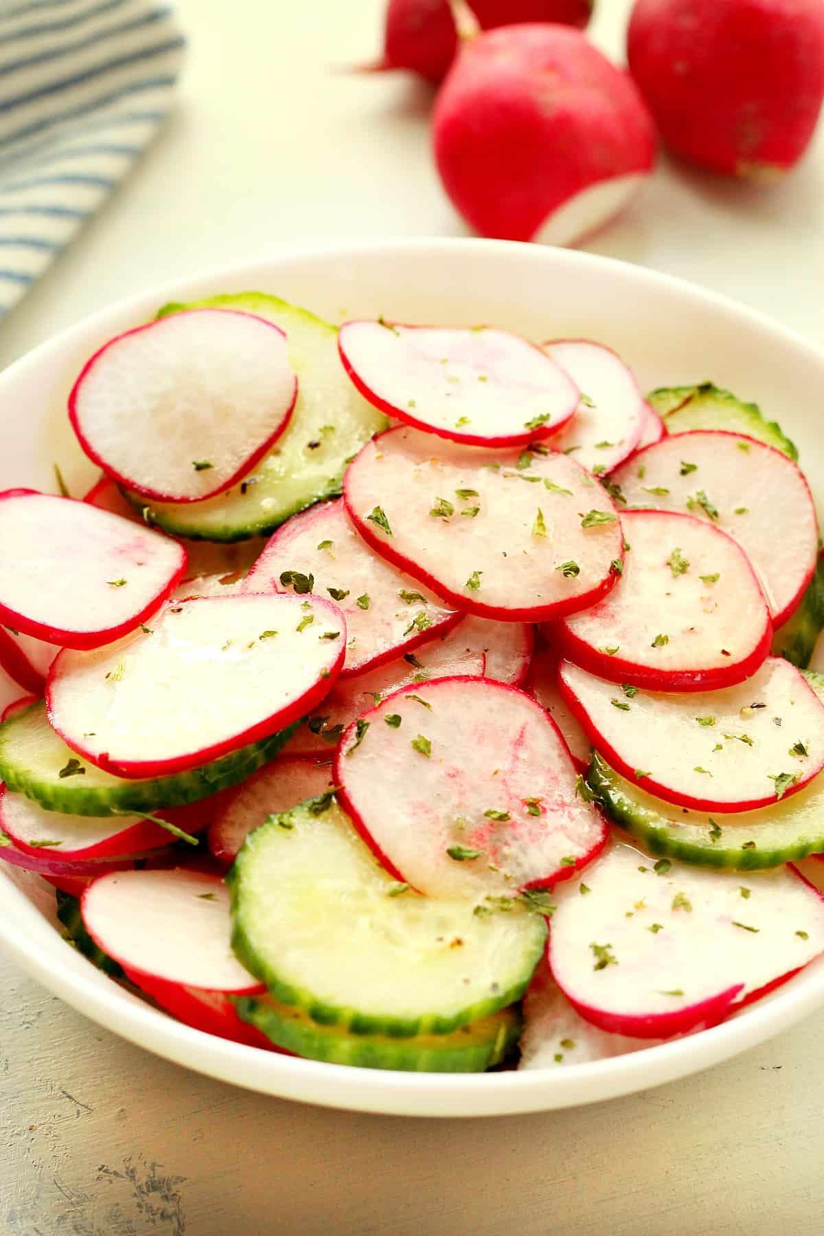 radish salad A Quick Radish Salad