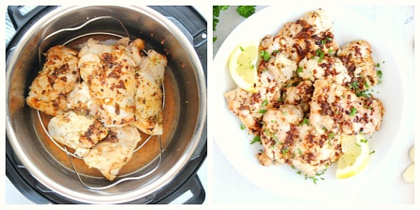 step 3 and 4 of lemon chicken Instant Pot Lemon Chicken
