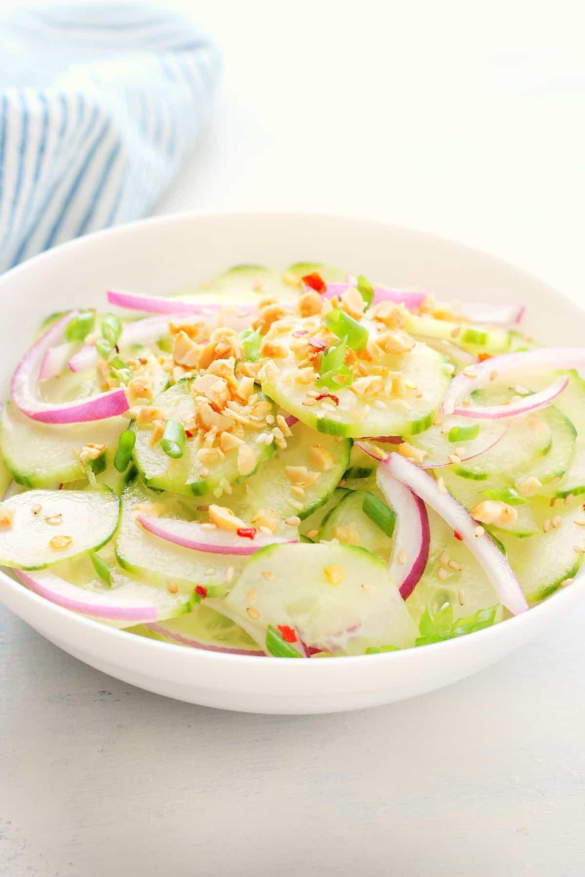 salada de pepino tailandês B salada de pepino tailandês