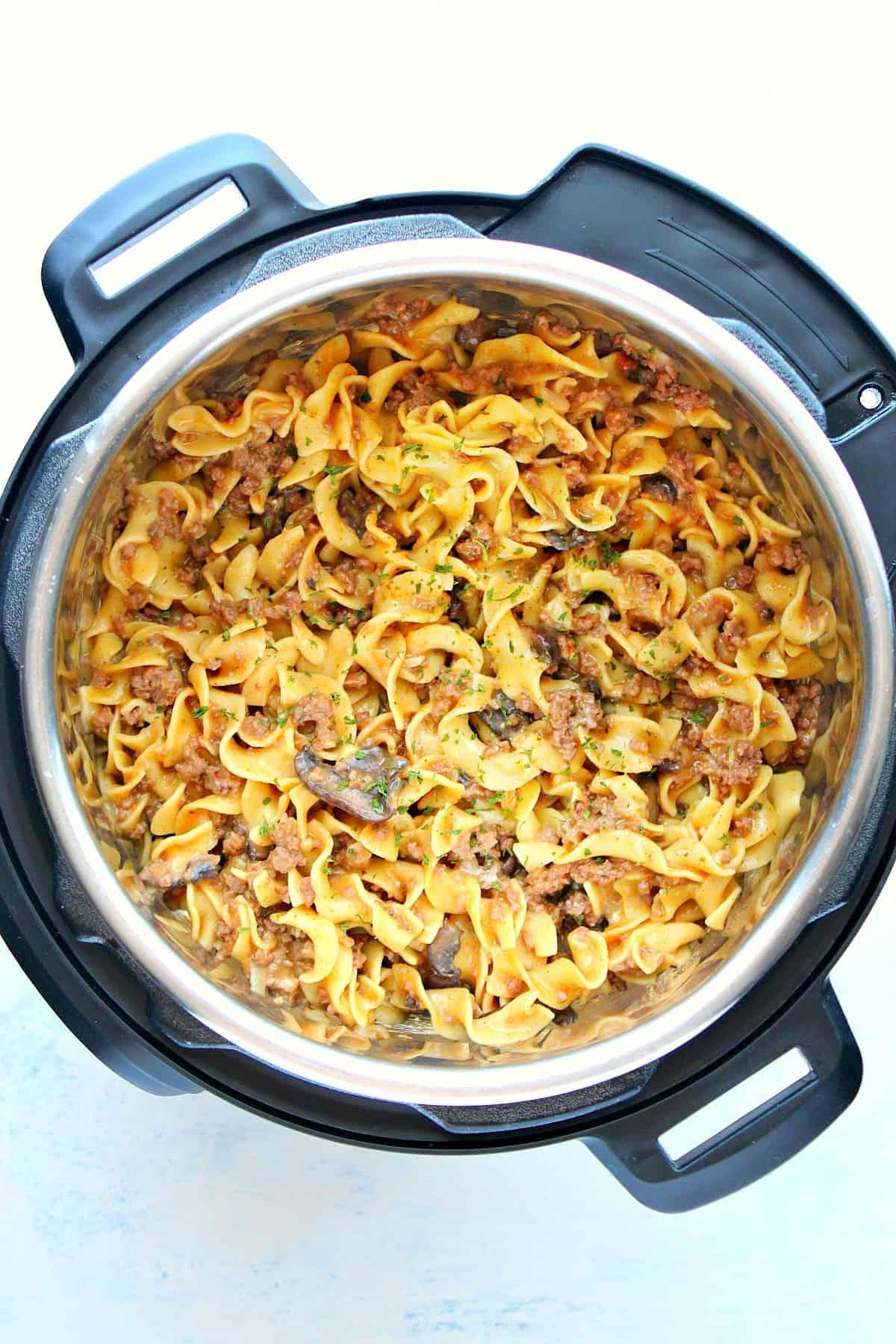 Instant Pot beef stroganoff B1 new Instant Pot Beef Stroganoff