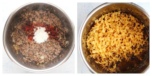 Stroganoff Instant Pot beef passo 3 e 4 Stroganoff Instant Pot Beef