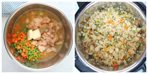 Instant Pot chicken and rice step 3 and 4 A Instant Pot Chicken and Rice