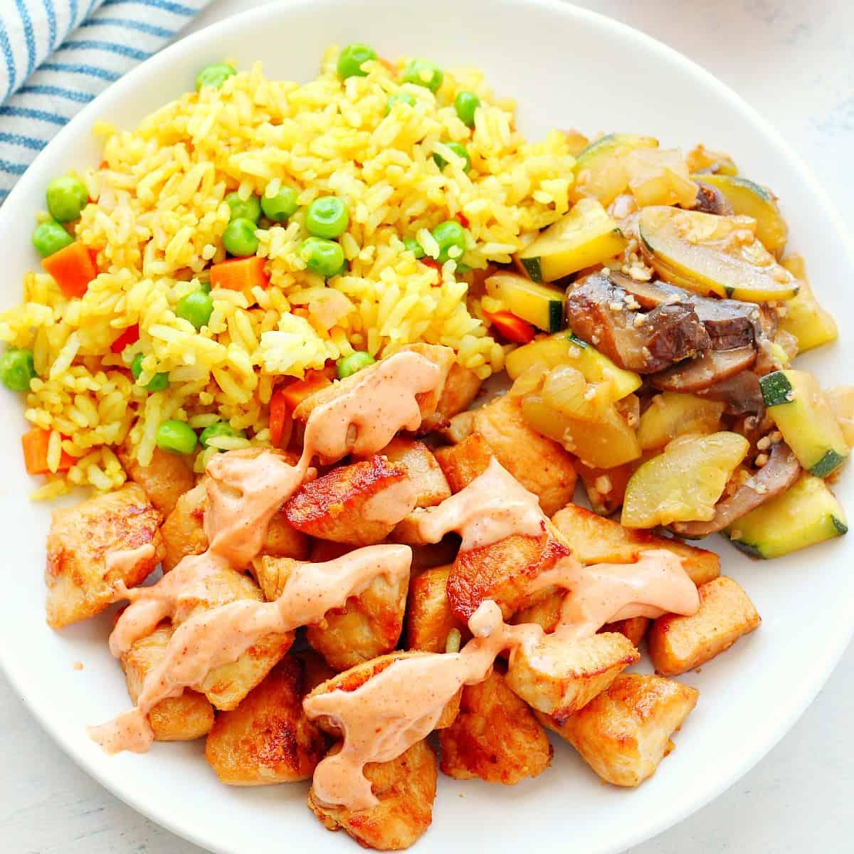 Easy Hibachi Chicken - Cremoso Cremoso Doce 11