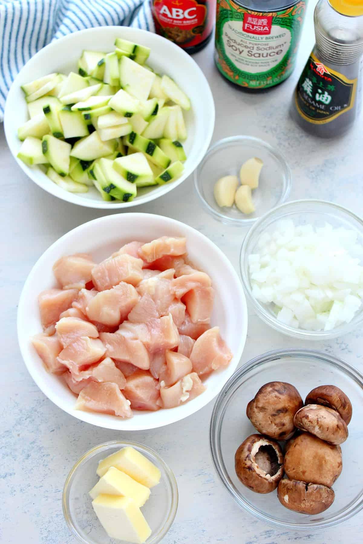 ingredientes da galinha hibachi Frango fácil Hibachi