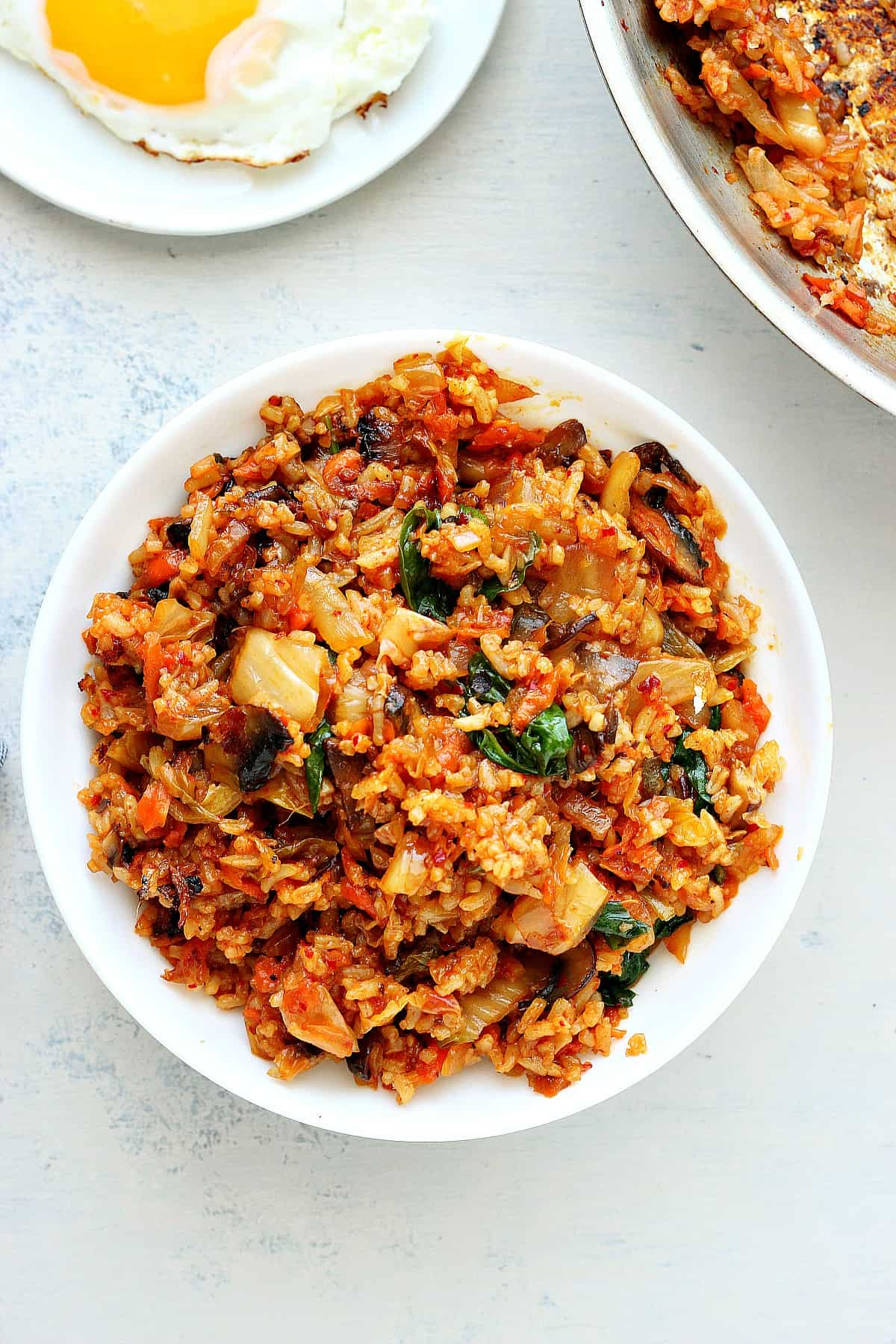 Kimchi Fried Rice Crunchy Creamy Sweet