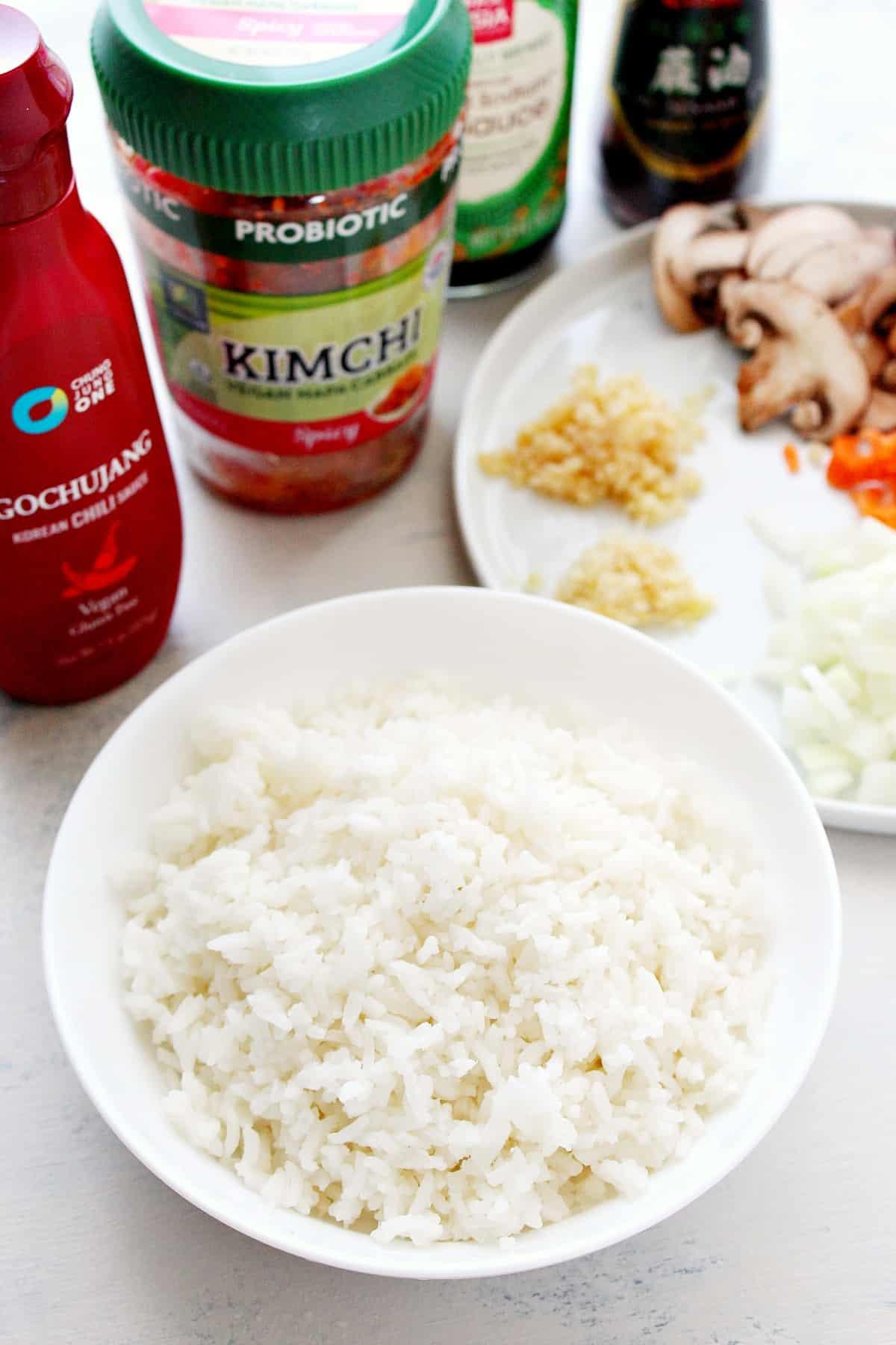 kimchi fried rice ingred Kimchi Fried Rice