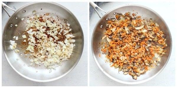 kimchi fried rice step 1 and 2 Kimchi Fried Rice
