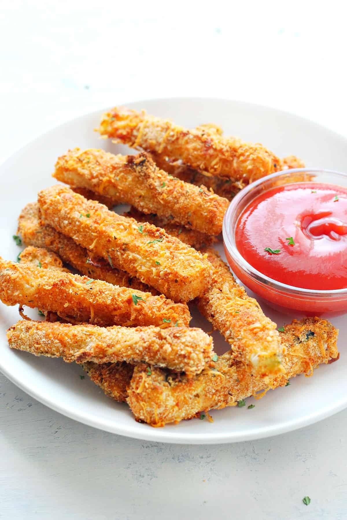zucchini fries A Crispy Zucchini Fries