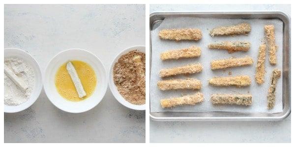 instruções de batatas fritas de abobrinha Colagem Batatas fritas de abobrinha crocantes