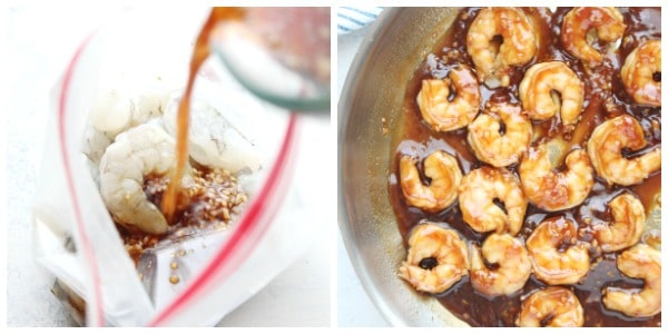 honey garlic shrimp how to Collage Honey Garlic Shrimp