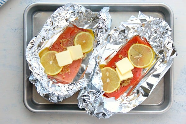salmon foil packets A Salmon Foil Packets