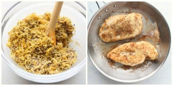 lemon pepper chicken step 1 and 2 Lemon Pepper Chicken