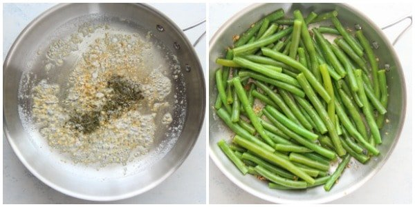 sauteed green beans step 3 and 4 Sauteed Green Beans