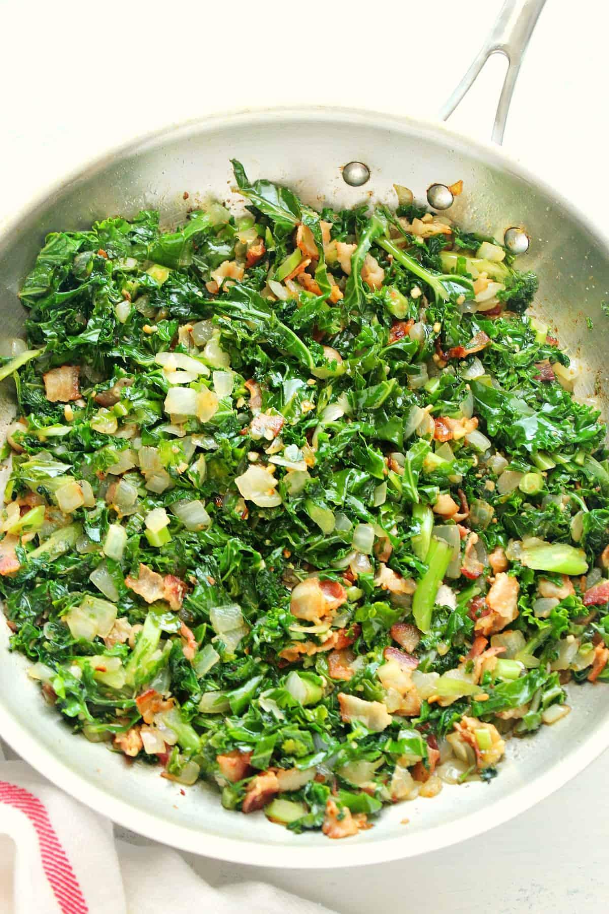 sauteed kale with bacon B Sauteed Kale with Bacon