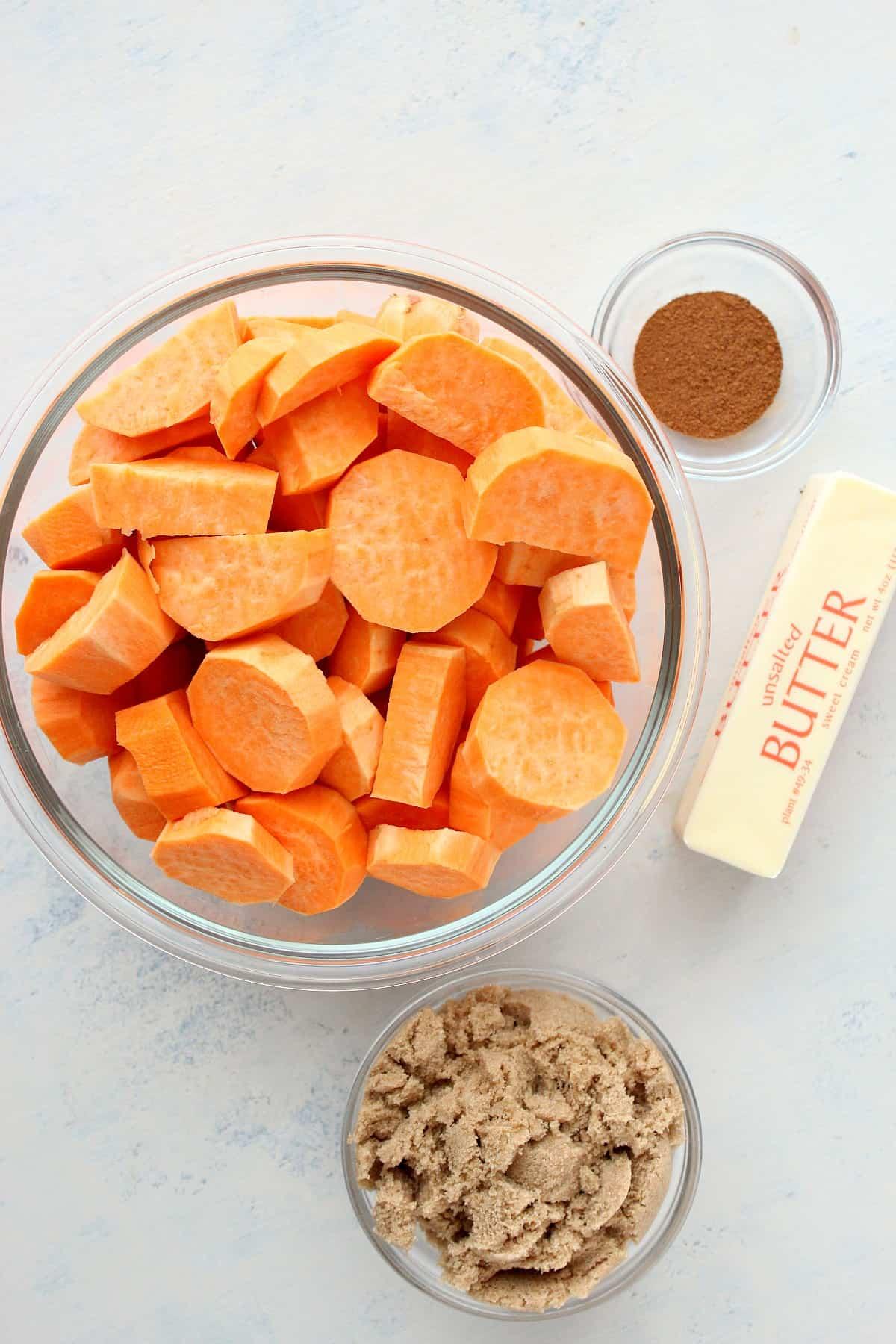 ingredientes de batata-doce cristalizada Batata-doce cristalizada