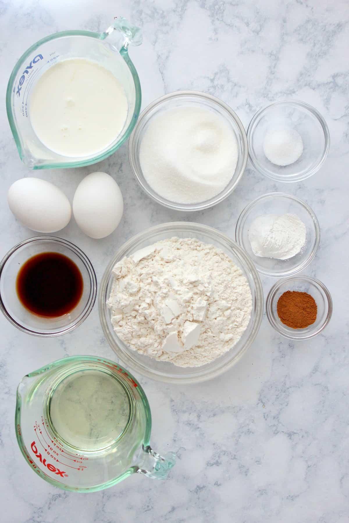 Ingredientes do bolo de migalhas Bolo Fácil de Migalhas