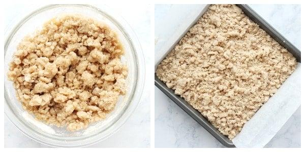 Easy Crumb cake etapas 3 e 4 Easy Crumb Cake