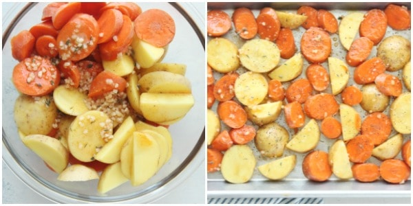 roasted potatoes and carrots step 3 and 4 Collage Roasted Potatoes and Carrots