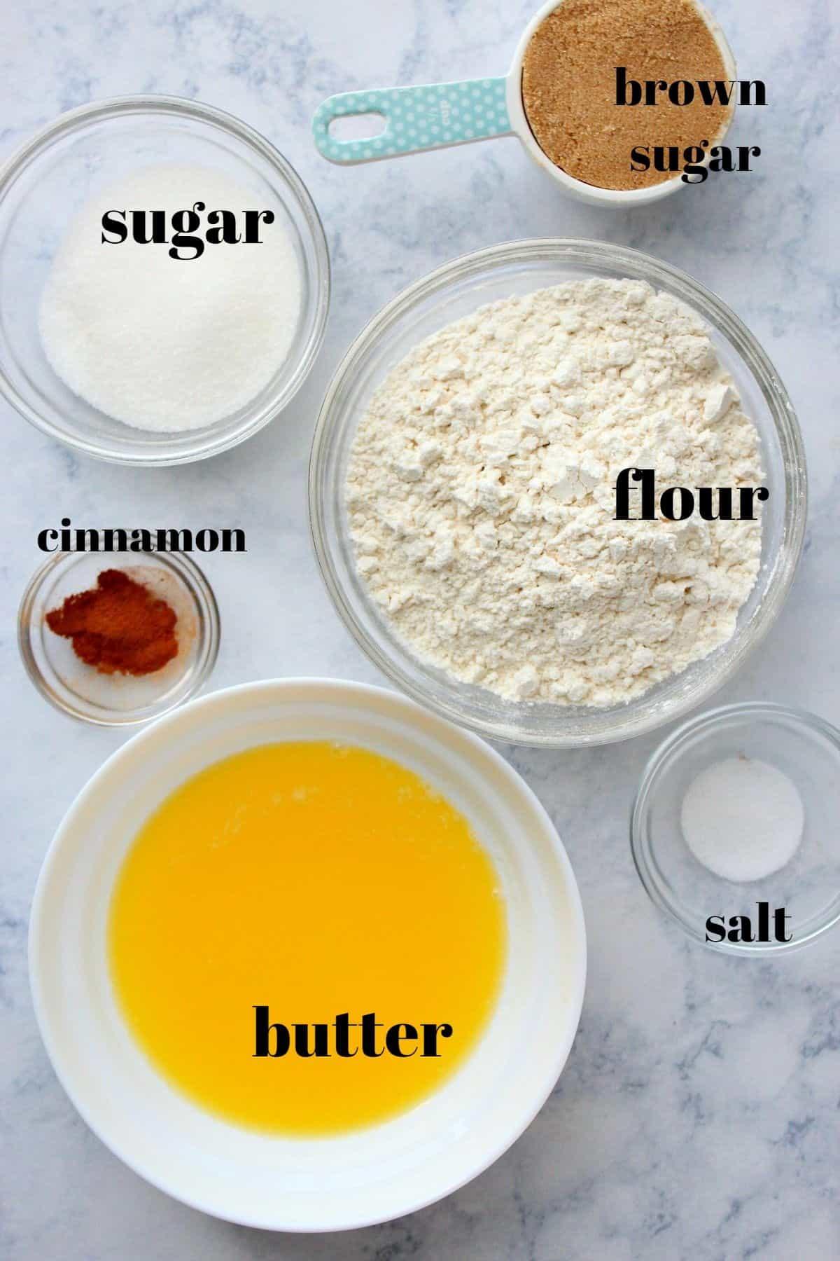 ingredientes de cobertura streusel1 Bolo Easy Crumb
