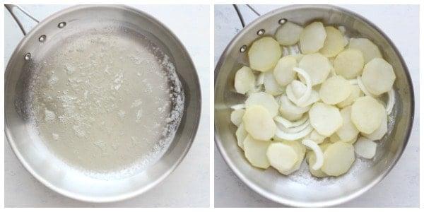 Lyonnaise potatoes step 3 and 4 Lyonnaise Potatoes