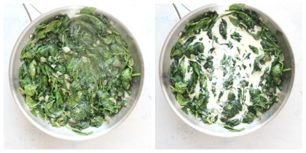 creamed spinach step 3 and 4 Creamed Spinach