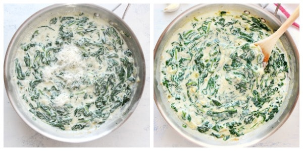 creamed spinach step 5 and 6 Creamed Spinach