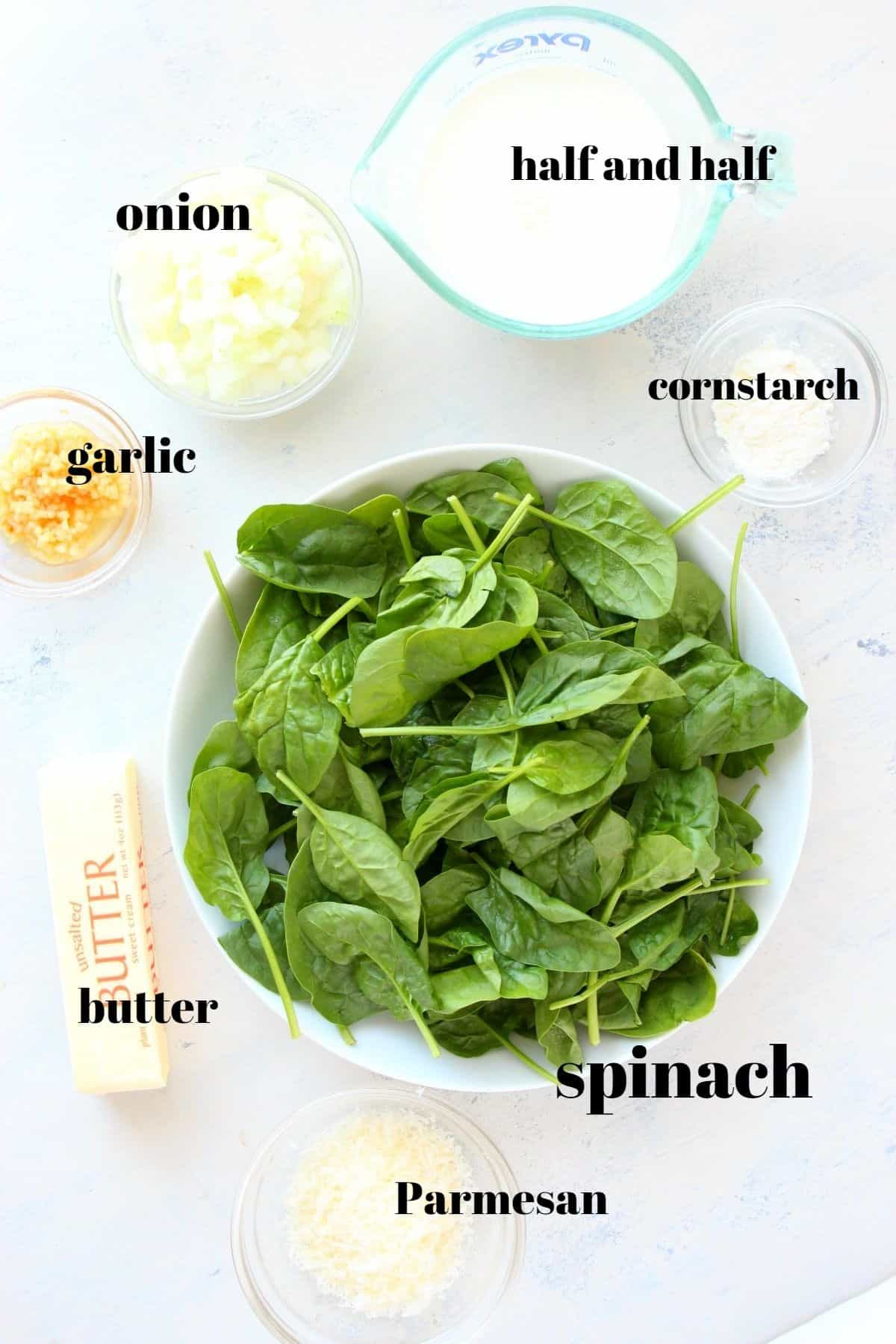 creamed spinach1 ingredients Creamed Spinach