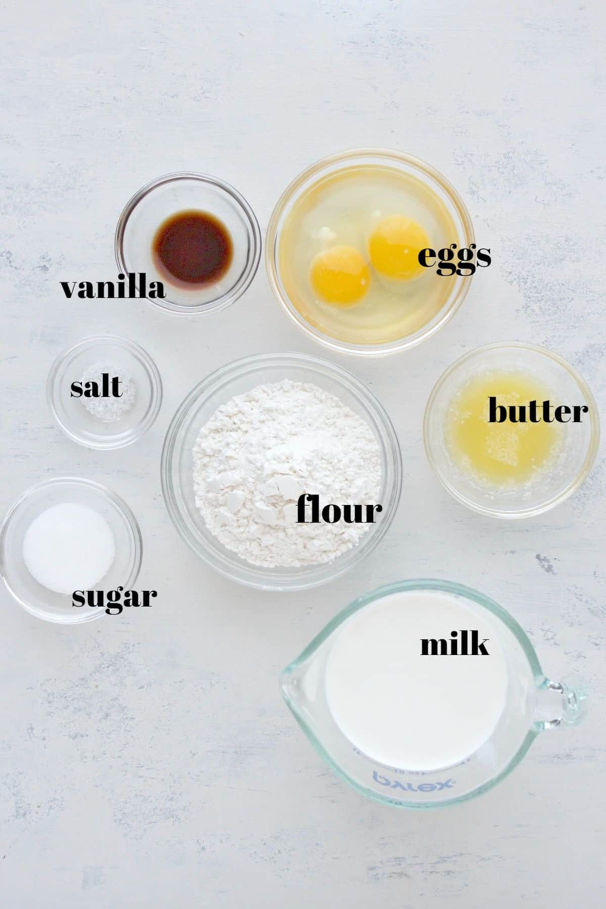 crepes ingredients 1 Easy Crepe Recipe