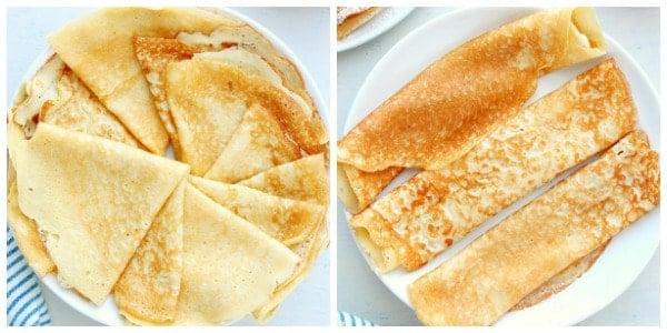 folding crepes Easy Crepe Recipe