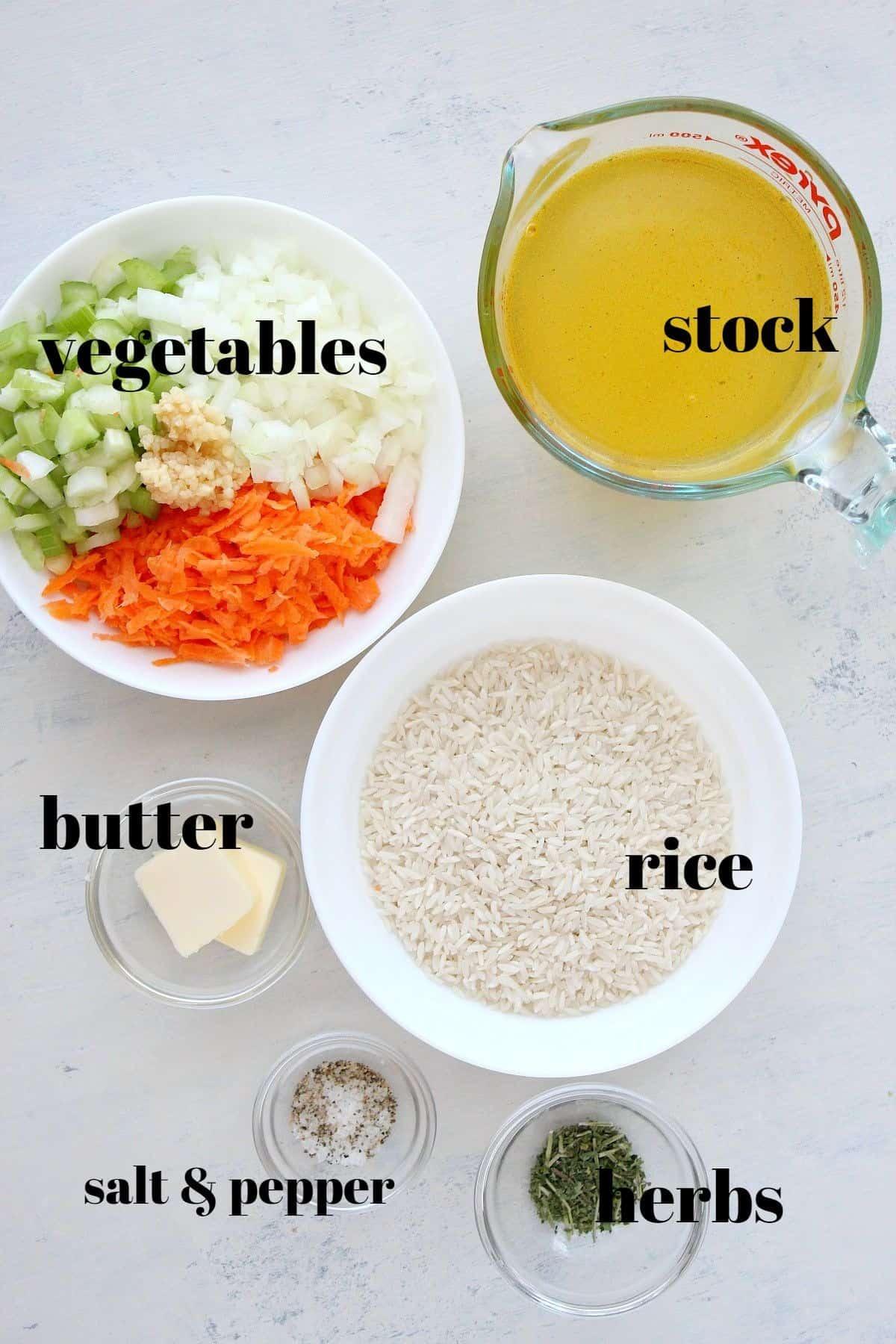 rice pilaf ingredients 1 Rice Pilaf Recipe