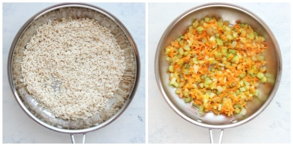 rice pilaf step 1 and 2 Rice Pilaf Recipe