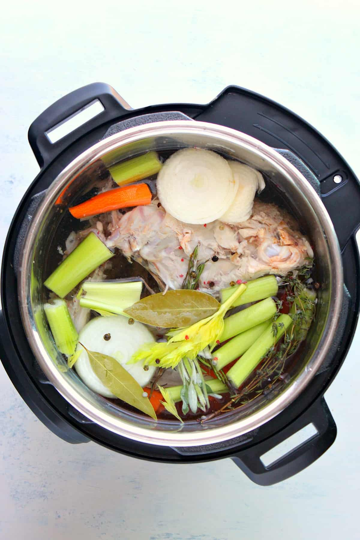 Instant Pot turkey stock A Instant Pot Turkey Stock
