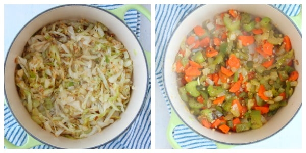 cabbage soup step 1 and 2 Cabbage Soup